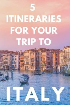 5 Amazing Italy Itinerary Ideas: If you have 10 days in Italy and are wondering where to go, these itineraries are all incredible and will make planning your trip to Italy a breeze! #Italy #itinerary #italyitinerary 10 Days In Italy, Cities In Italy, Cool Places To Visit, Places To Travel, Travel Destinations, Italy Travel Tips, Travel Europe, Budget Travel, Time Travel