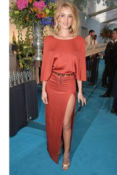 10 chic looks to wear to a wedding this season: Rosie Huntington-Whiteley.