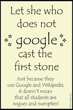 Let she who does google cast the first stone.