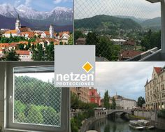 Netzen in Slovenia!Continuous anchoring system based upon polyamide profiles anchored to the whole structure, which ensure the right tension of the mesh, offering a more aesthetic and safer solution. Childproofing, Slovenia, Mesh, World, Child Safety, The World, Fishnet, Earth, Tulle