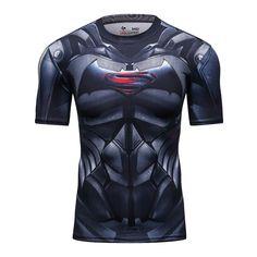 Batman Arkham Origins Men's Athletic Tops Dark Knight Von Batman Film Shirt Sublimation Tees Tops Heather Men Gym Training Shirt