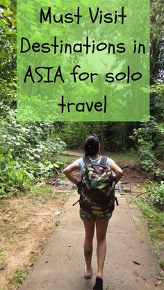After traveling solo