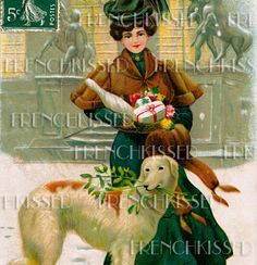 DIGITAL scan CHRISTMAS Happy New Year Victorian by FrenchKissed