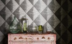 Astratto Wallcoverings - Black Edition by Romo #SalonsInterija #Designer Fabrics & Wallcoverings, Upholstary Fabrics