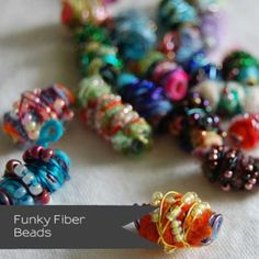 Fabric beads make fabulous embellishments for all your fabric projects and are quick, easy and fun to make. So how many ways are there to make fabric beads? Jewelry Crafts, Jewelry Art, Beaded Jewelry, Fashion Jewelry, Beaded Necklaces, Bead Earrings, Textile Jewelry, Fabric Jewelry, Fabric Bracelets