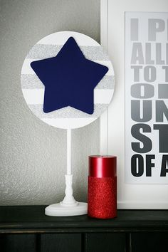 diy patriotic stars - 4th of july