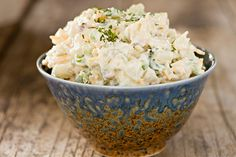 This potato salad recipe calls for jalapeno peppers, which gives it a real kick. This salad goes well with just about anything, but really compliments barbecued pork. How To Make Macaroni, Bacon Deviled Eggs, Macaroni Salad, Cooking On The Grill, How To Cook Eggs, Stuffed Jalapeno Peppers, Vegetarian Cheese, Potato Recipes, Salad Recipes