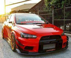 #Mitsubishi_Evo_X #Modified #Slammed
