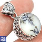 SP160107 SCENIC DENDRITIC AGATE 925 STERLING SILVER PENDANT JEWELRY - http://jewelry.goshoppins.com/fashion-jewelry/sp160107-scenic-dendritic-agate-925-sterling-silver-pendant-jewelry/