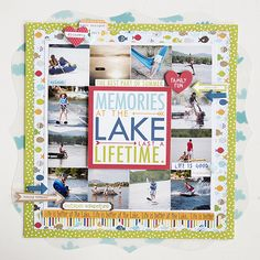Memories at the Lake - Scrapbook.com - Made with the soon to be available Camp Out Collection by Bella Blvd