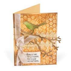 Life Larger Than Our Own. Card created  with Tim Holtz' Bird Branch Die