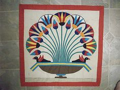 17x17 Egyptian Hand Sewn Appliqued Quilt Square Table Doily | eBay