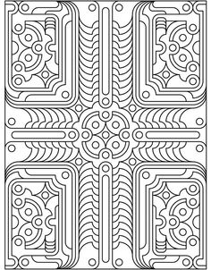 dover design geo tech coloring pages pinterest