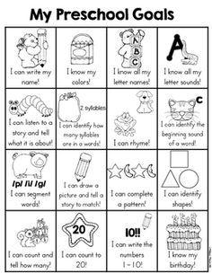 Pre-Kindergarten Goals Sheet by Melissa Moran Pre K Curriculum, Preschool Assessment, Homeschool Preschool Curriculum, Preschool Schedule, Preschool Prep, Preschool Lesson Plans, Preschool Learning Activities, Home School Preschool, Toddler Schedule