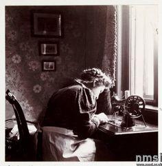 Using the window light, about 1908. (Go pet your faithful Ott Light!)