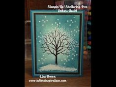 Stampin' Up! Video Tutorial Sheltering Tree Emboss Resist - YouTube