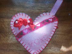 Sweet  felt heart ornament