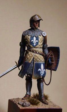 mediaval knight in the holiland Armadura Medieval, Medieval Armor, Medieval Fantasy, Templer, Knight Art, Military Figures, Armor Concept, Fantasy Armor, Miniature Figurines