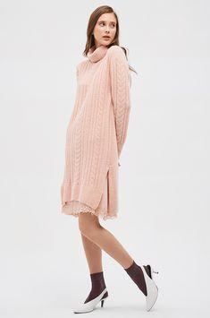 케이블 니트 드레스 Knit Skirt, Handsome, Knitting, Skirts, Sweaters, Dresses, Women, Fashion, Vestidos