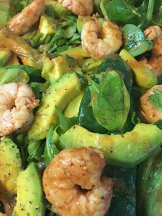 Spinach, avocado & jumbo shrimp Salad — The Little Kitchen