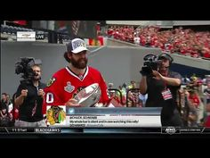 "Corey Crawford Tries, Fails To Avoid Saying ""F*ck"" At Blackhawks Rally"