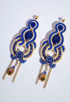 #Soutache #Orecchini #Earrings #Blu #Lapis