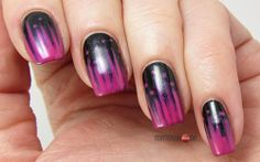 Black Egg Nails for FingerFood's Theme Buffet #10 Dots & Stripes