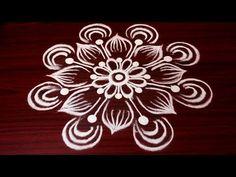 simple freehand rangoli designs for competition    best kolam design    latest muggulu designs - YouTube