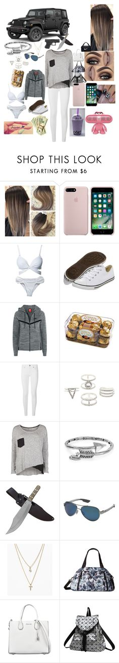 """""""This is really me i am a jeep girl"""" by brookebaileybirdwell ❤ liked on Polyvore featuring Wrangler, Hot Anatomy, Converse, NIKE, Burberry, Charlotte Russe, Object Collectors Item, Alex and Ani, Costa and LOFT"""