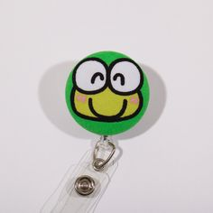 A personal favorite from my Etsy shop https://www.etsy.com/listing/242585076/keroppi-badge-reel