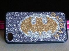 Batman totally sparkly phone case