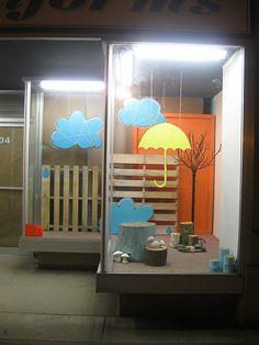the Yellow Umbrella window display