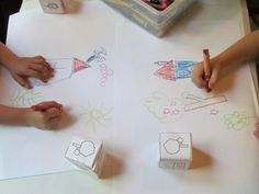 Sunny day cube drawings from Teach Preschool