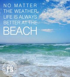No matter the weather... life is always better at the beach...even hurricanes