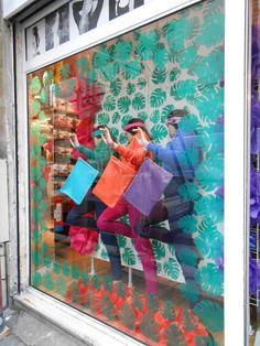 Colorful Spring Window display