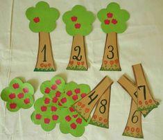 Risultati immagini per montessori material selber machen kindergarten Montessori Materials, Montessori Activities, Preschool Learning, Kindergarten Math, Learning Activities, Preschool Activities, Numbers Preschool, Learning Numbers, Teaching Aids