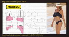 O Cropped Top tem uma proposta mais fun, porque é como se fosse uma camiseta cortada por cima do biquíni, perfeita e superestilosa para as...