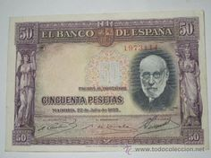 billete 50 pesetas banco de españa julio 1935 sin serie ebc