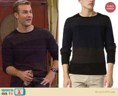 Will's colorblock sweater on Friends with Better Lives. Outfit Details: http://wornontv.net/32784/ #FWBL