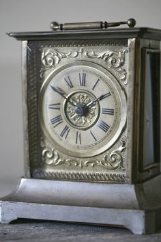 antique musical clock