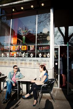 We love sitting outside Salontea on sunny days on South Granville for lunch!
