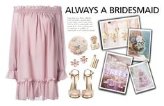 """Always a Bridesmaid"" by blacksky000 ❤ liked on Polyvore featuring Reception, Alexander McQueen, Marchesa, Stila and Vince Camuto"