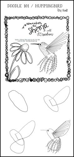 Sketch Book - This is for Deborah Cole who asked if I would do a Doodle 101 / Hummingbird. I learned so much, I am grateful to connect with so many Sisters in Christ who hunger and thirst… Doodles Zentangles, Zentangle Patterns, Scripture Art, Bible Art, Doodle Drawings, Doodle Art, Bird Doodle, Doodle Images, Doodle Flowers