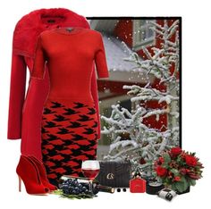 """""""inverno vermelho"""" by sil-engler ❤ liked on Polyvore featuring Rumour London, Gianvito Rossi, Archipelago Botanicals and Kate Spade"""