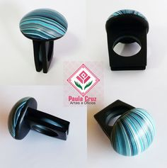 https://flic.kr/p/w9kbgt | Polymer - Striped ring | Anel modelado em Polymer Clay. Striped. Aro 15/16