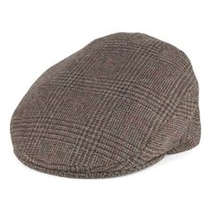 9f5dd83ca17 Olney Hats Hereford Pure Wool Tweed Flat Cap - Tan-Brown from Village Hats.