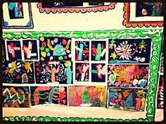 """cactus de navidad pintados sobre cartulina Menudos """"savios"""" por el mundo"""