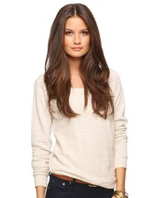 pointelle front raglan top by forever 21.