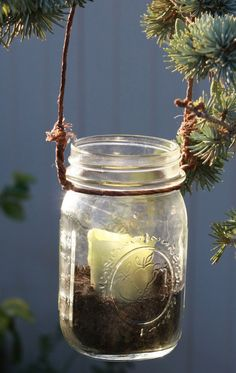 tutorial on how to hang mason jars