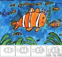 watercolor clownfish.